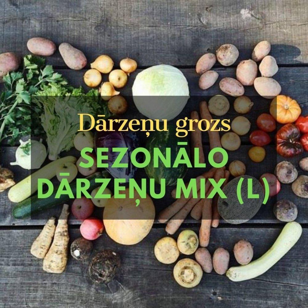 Dārzeņu grozs - sezonālo dārzeņu, ābolu mix (L)