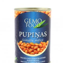 Pupiņas tomātu mērcē