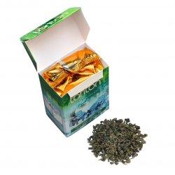 Ceilonas zaļā beramā lapu tēja ar bergamontu