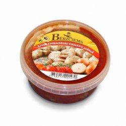 Zivju frikadeles tomātu mērcē