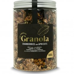 Granola ar dzērvenēm un aprikozēm