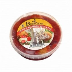 "Kalmāru kotletes tomātu mērcē ""Lečo"""
