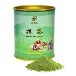 Matcha zaļās tējas pulveris
