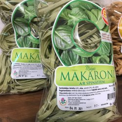 Mājas makaroni - spinātu